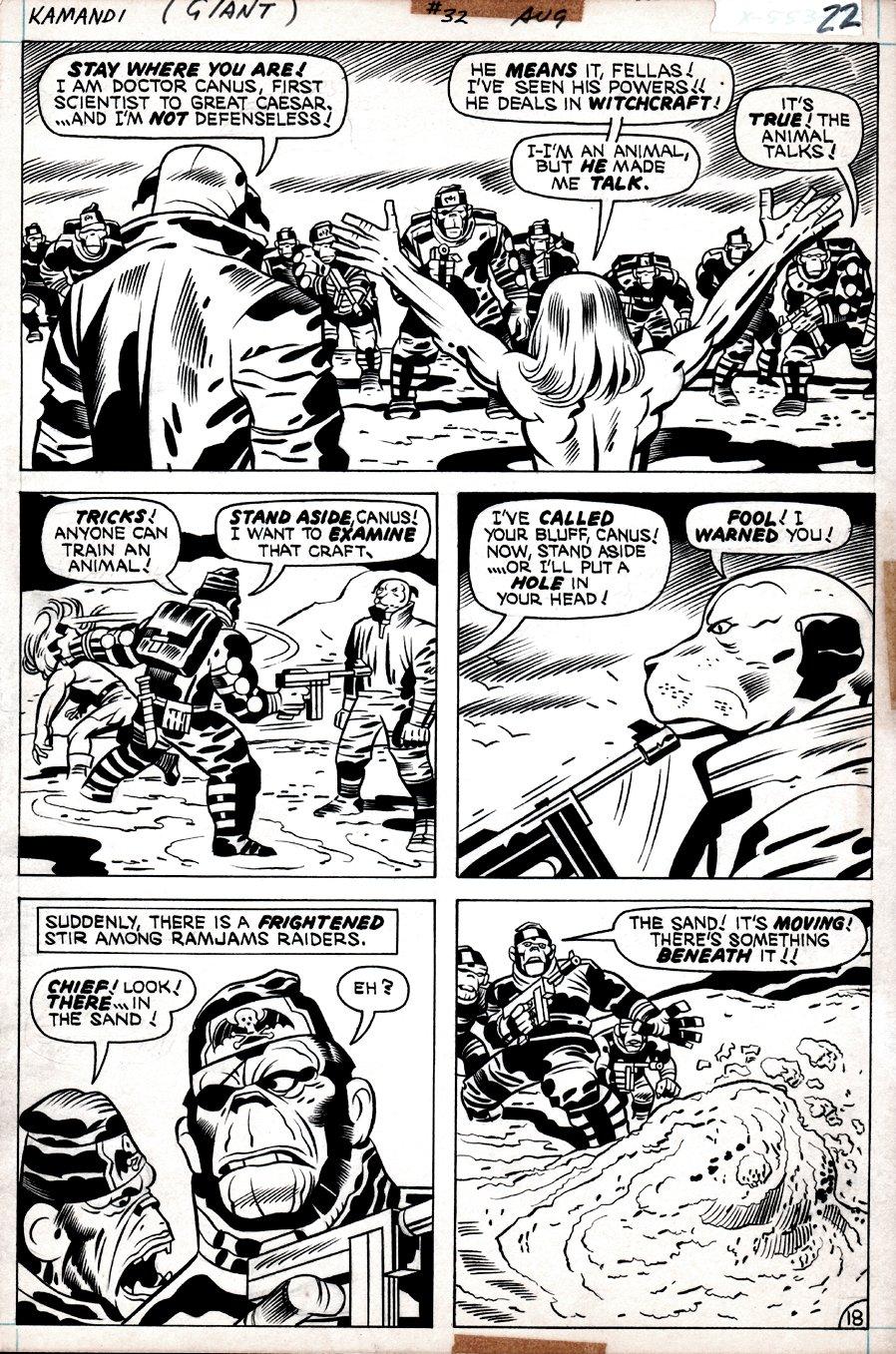 Kamandi #32 p 18  (Kamandi, Dr. Canus, Gorilla Commandos!) 1975