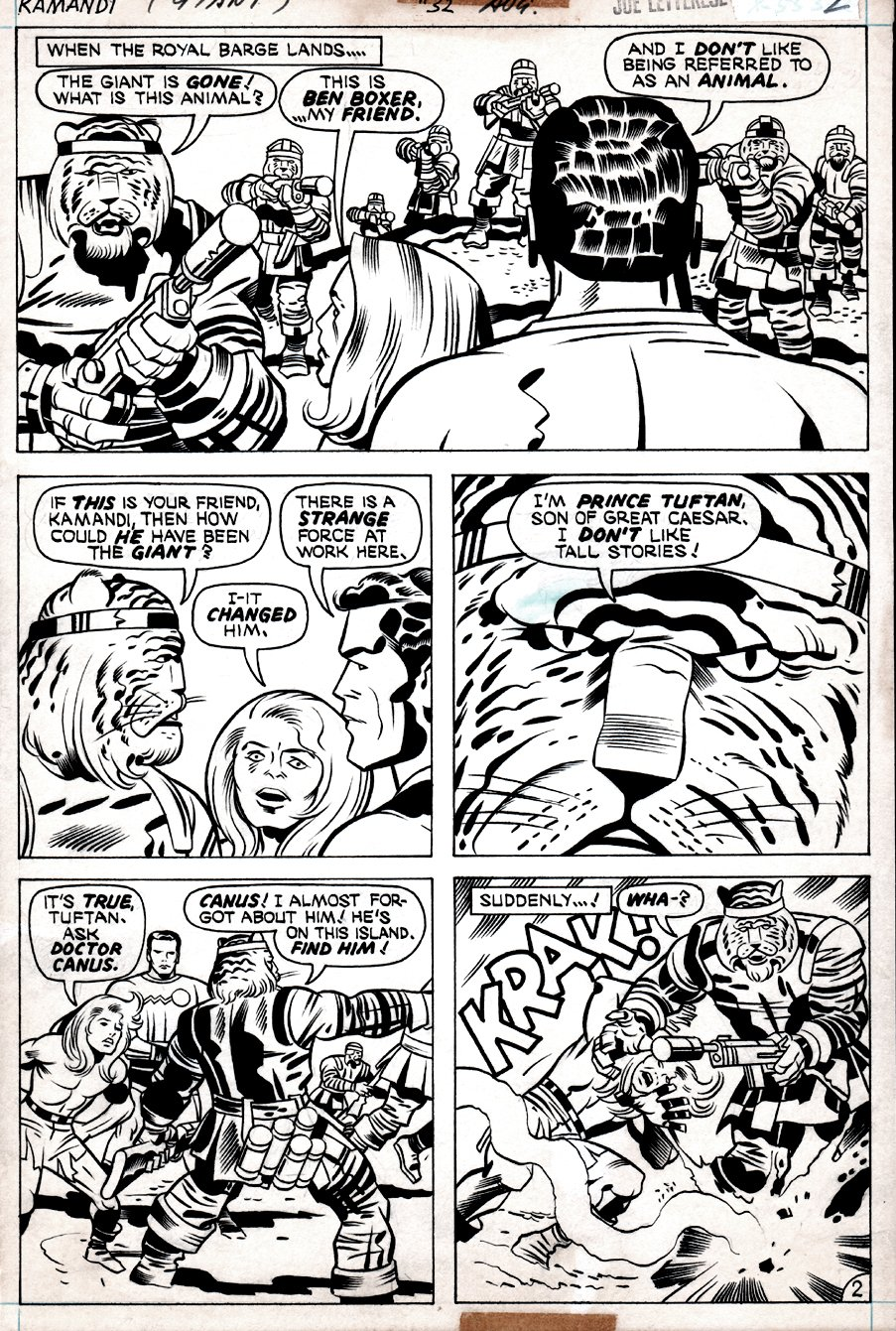 Kamandi #32 p 2  (Kamandi, Ben Boxer, Beast-Men!) 1975