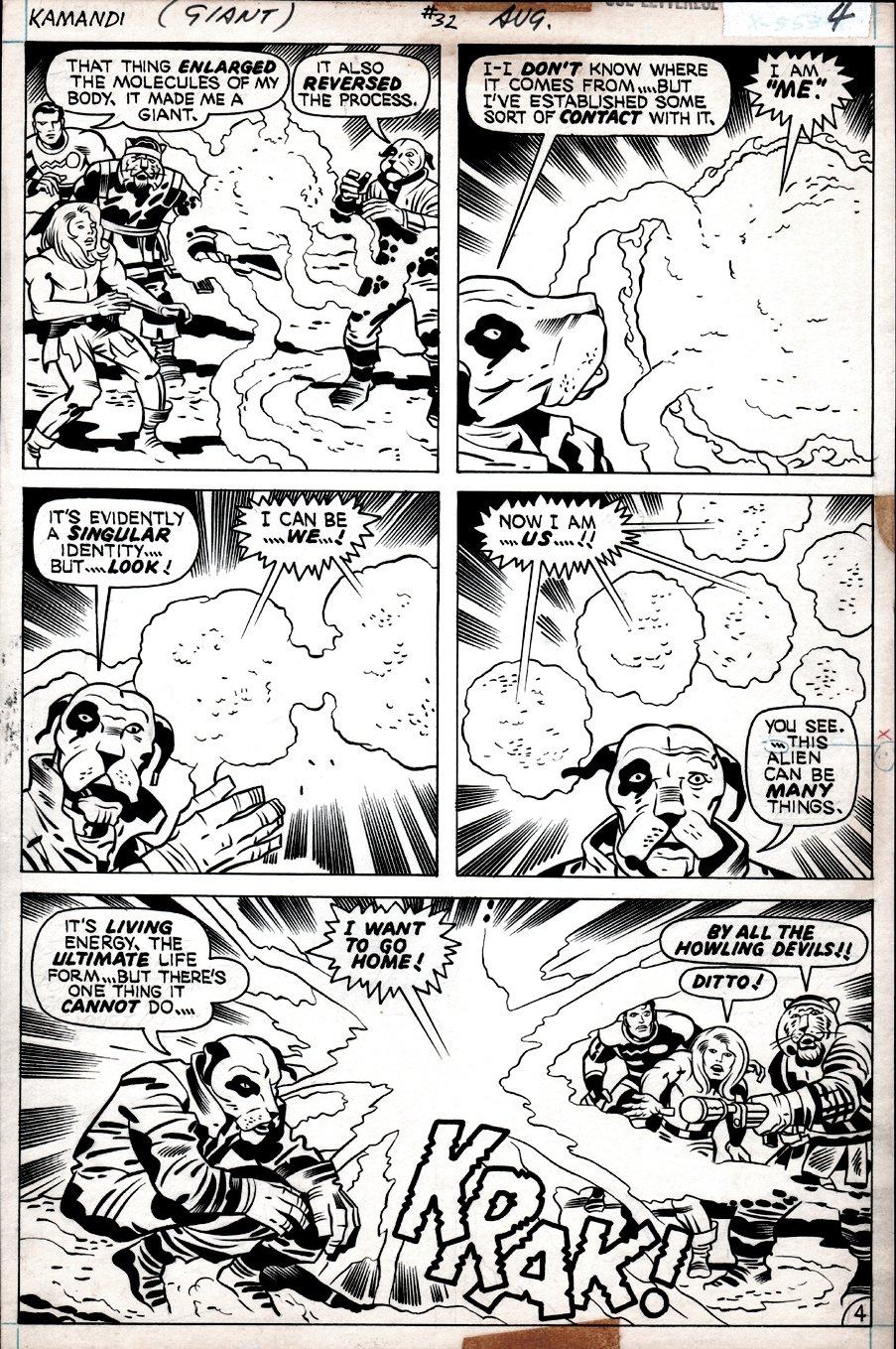 Kamandi #32 p 4  (Kamandi, Doctor Canus, Ben Boxer, Tiger Men!) 1975