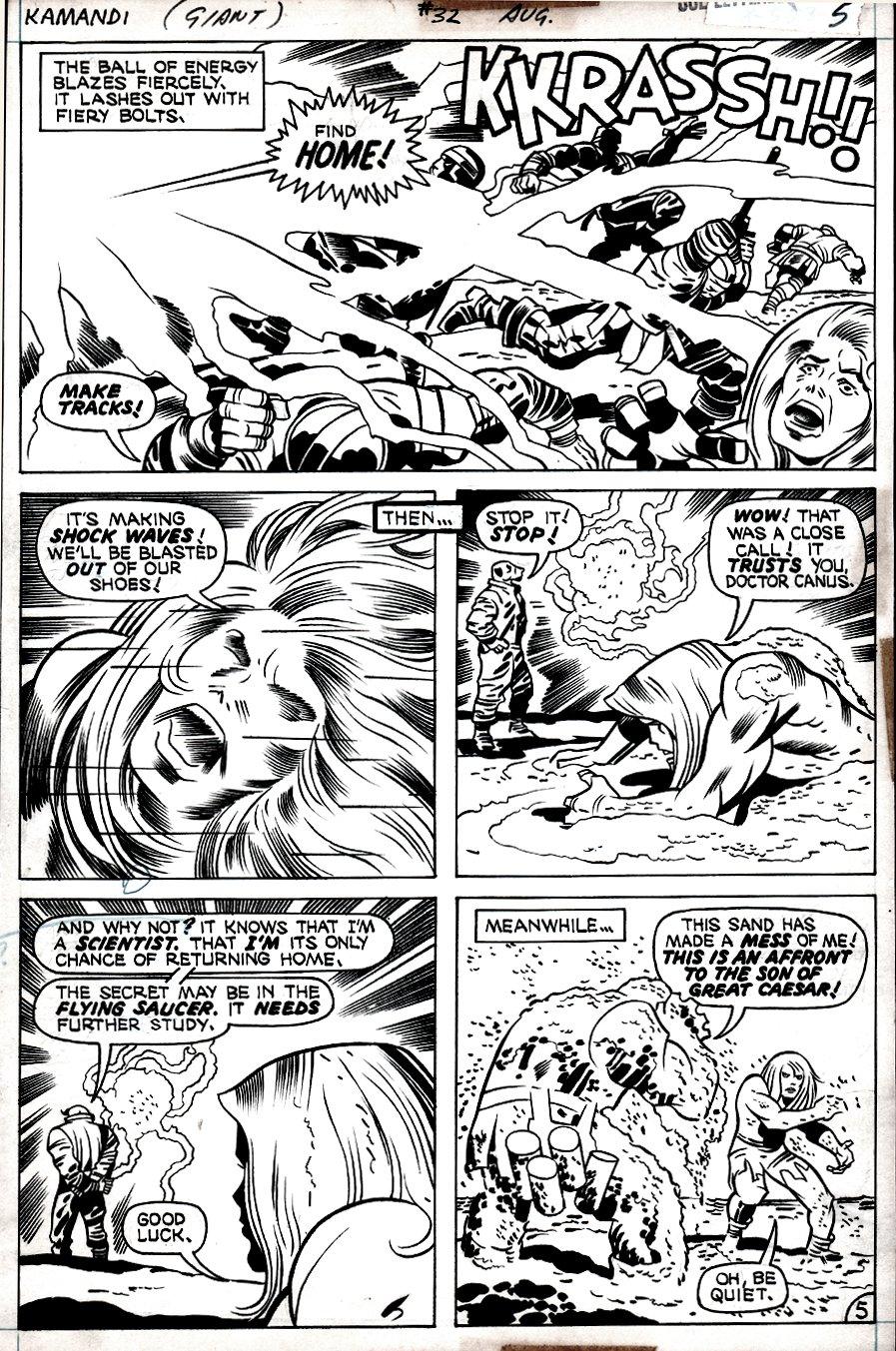 Kamandi #32 p 5 (Kamandi In EVERY PANEL, Dr. Canus, Beastmen!) 1975