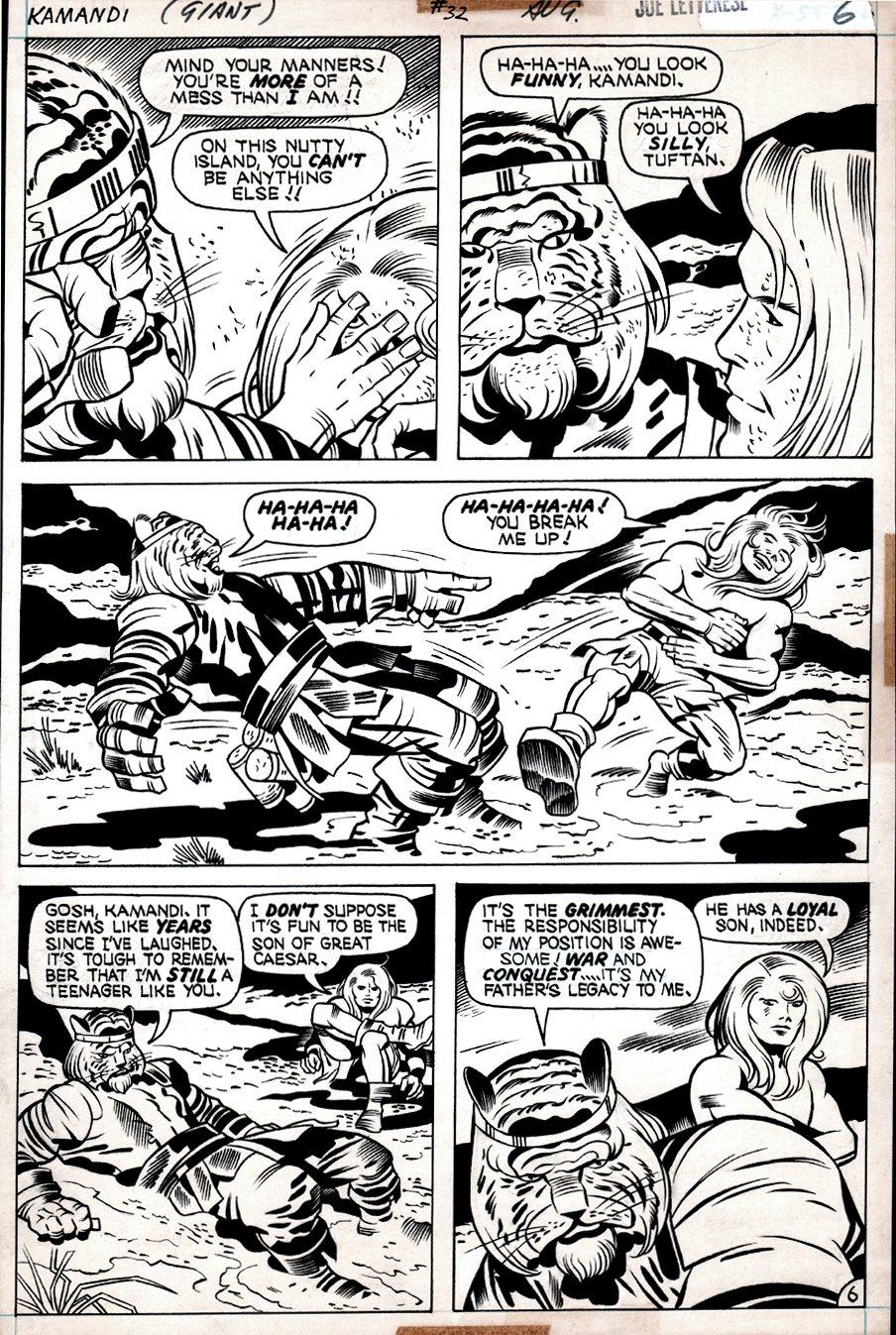 Kamandi #32 p 6 (Kamandi In EVERY PANEL, Beastmen!) 1975