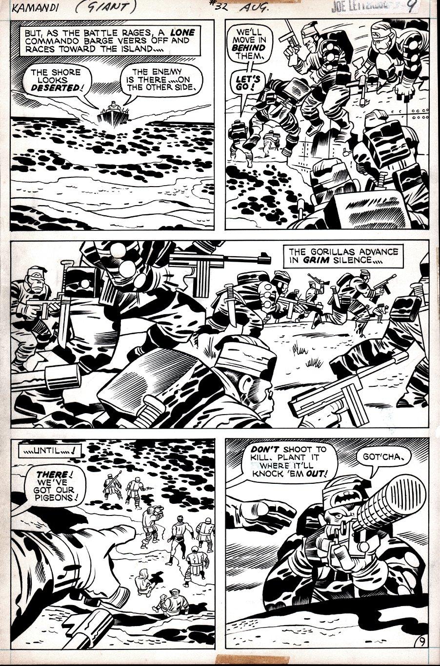 Kamandi #32 p 9  (The Gorilla Commandos Invade!) 1975