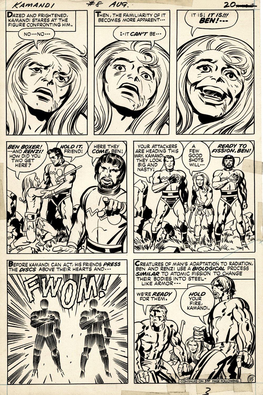 Kamandi #8 p 15 (EARLY KAMANDI, BEN BOXER, RENZI PAGE!) 1973