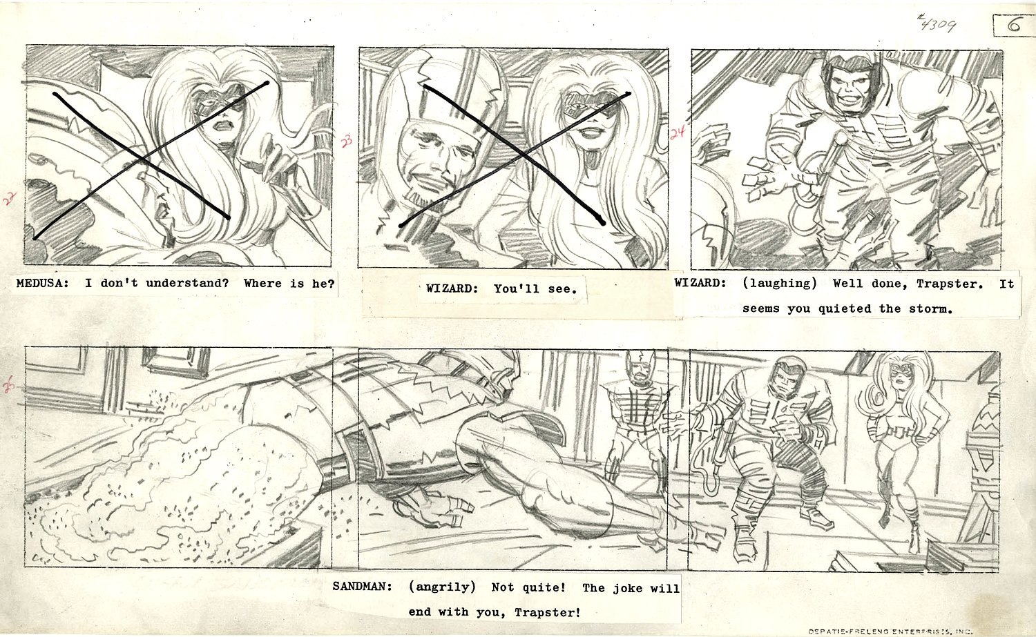 Fantastic Four Cartoon Storyboard (1978)