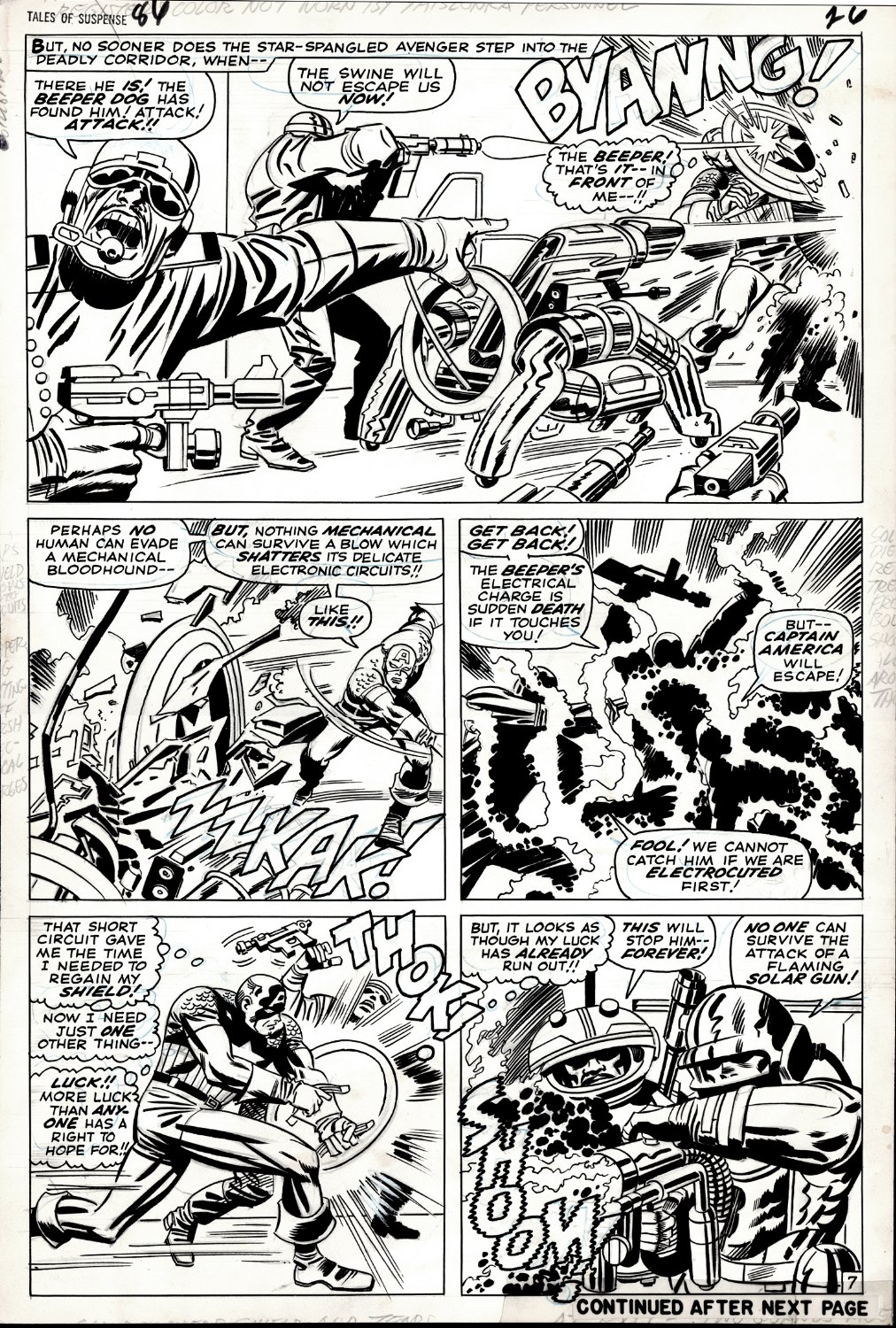 Tales of Suspense #86 p 7 (SPECTACULAR CAPTAIN AMERICA LARGE ART ALL OUT BATTLE PAGE!) 1966