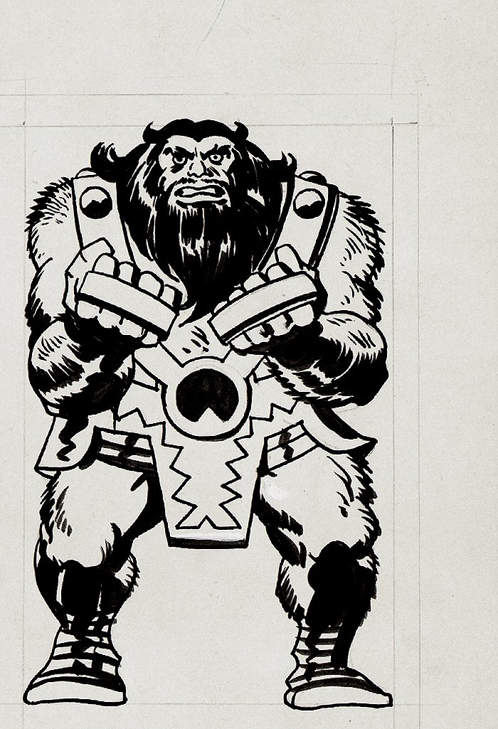 Jack Kirby Marvelmania Unpublished Ulik Back Cover Illustration (1968)