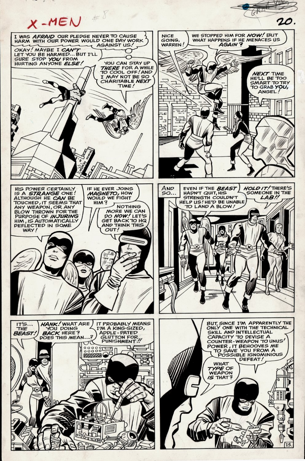 X-Men #8 p 15 (Large Art) 1964
