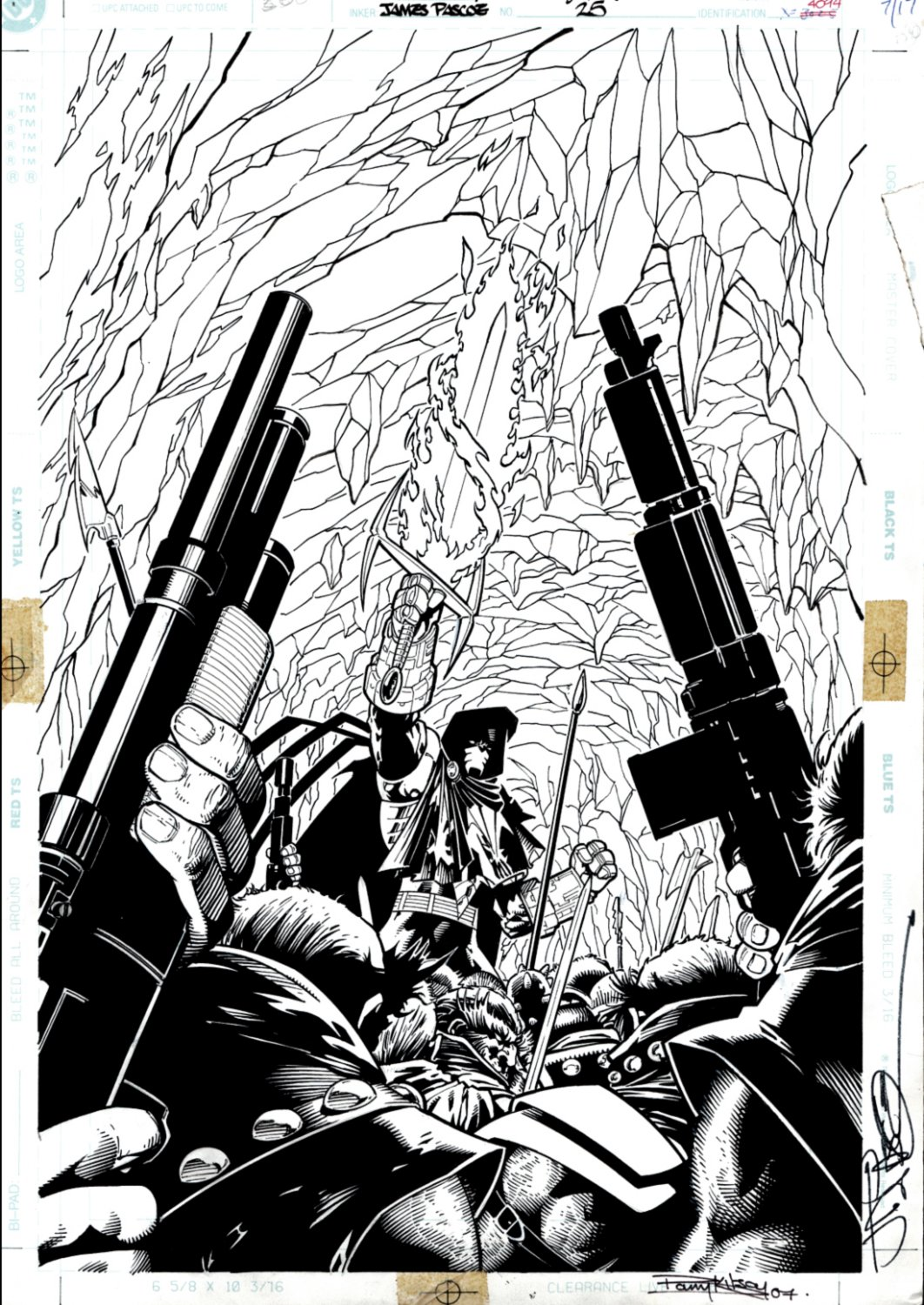 Azrael #25 Cover (SOLD LIVE ON THE ROMITAMAN ART DROP PODCAST ON 10-9-2021)