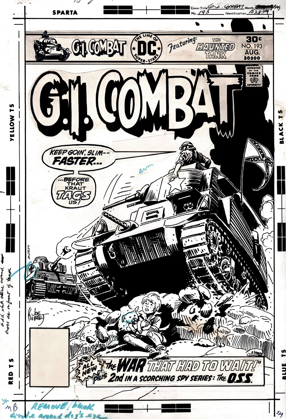 G.I. Combat #193 Cover (THE HAUNTED TANK!) 1976