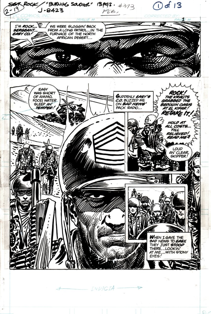 Sgt. Rock #373 p 1 SPLASH (SGT ROCK ACTION!) 1982