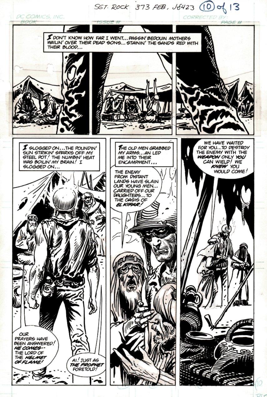 Sgt. Rock #373 p 10 (SGT ROCK THE SAVIOR!) 1982