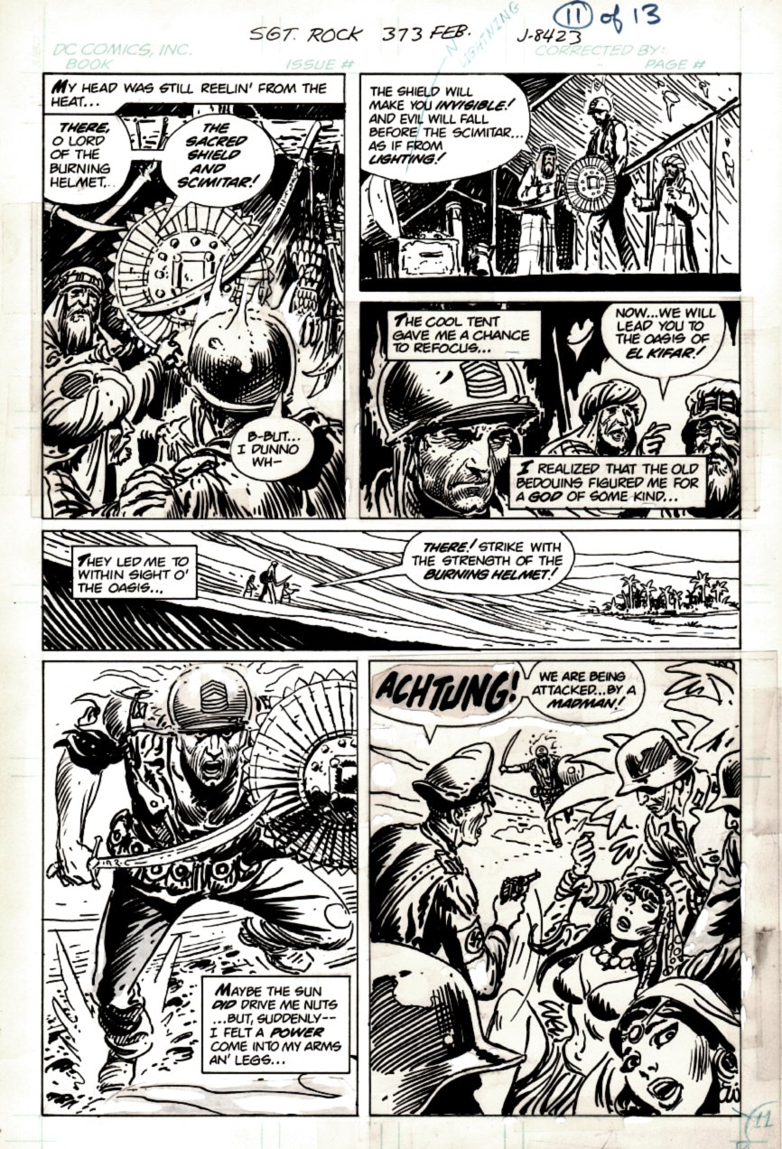 Sgt. Rock #373 p 11 (COVER SCENE! SGT ROCK THE SAVIOR CHARGES THE NAZIS!) 1982