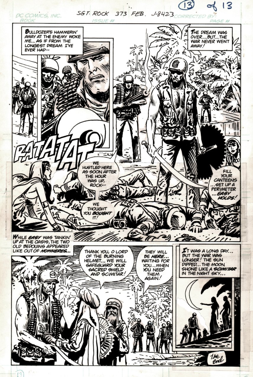 Sgt. Rock #373 p 13 SEMI-SPLASH (SGT ROCK SAVES THE DAY!) 1982