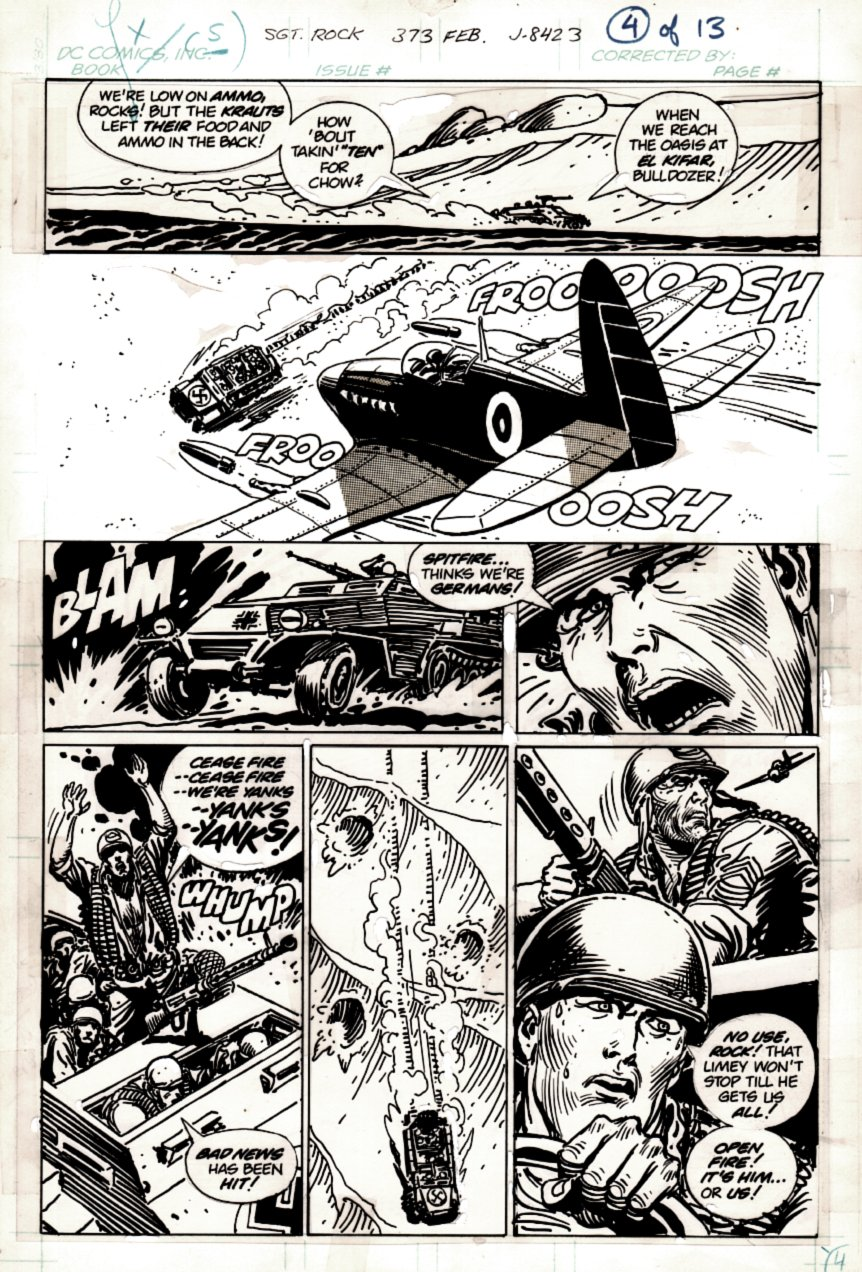 Sgt. Rock #373 p 4 (SGT ROCK BATTLES AMERICAN PLANE!) 1982