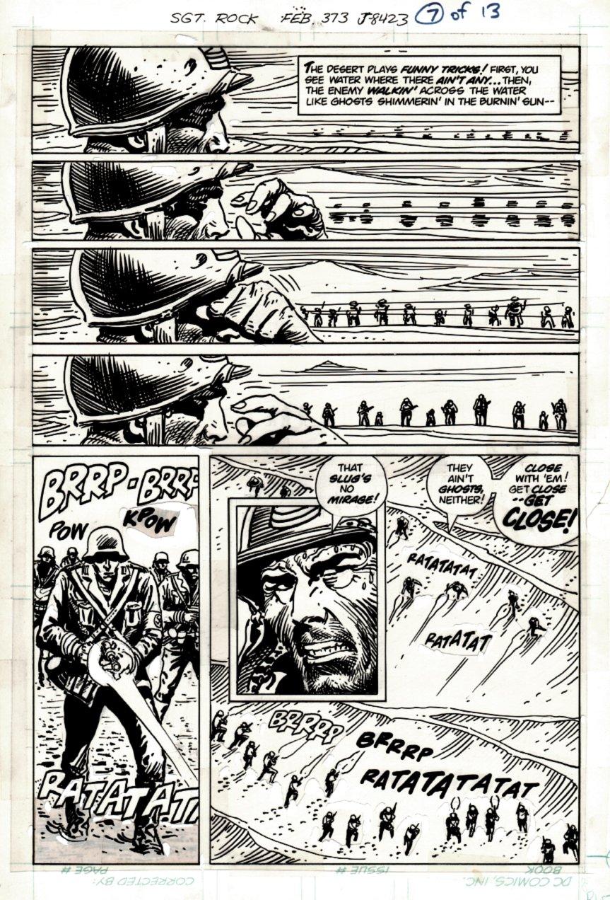 Sgt. Rock #373 p 7 (SGT ROCK BATTLES NAZIS!) 1982