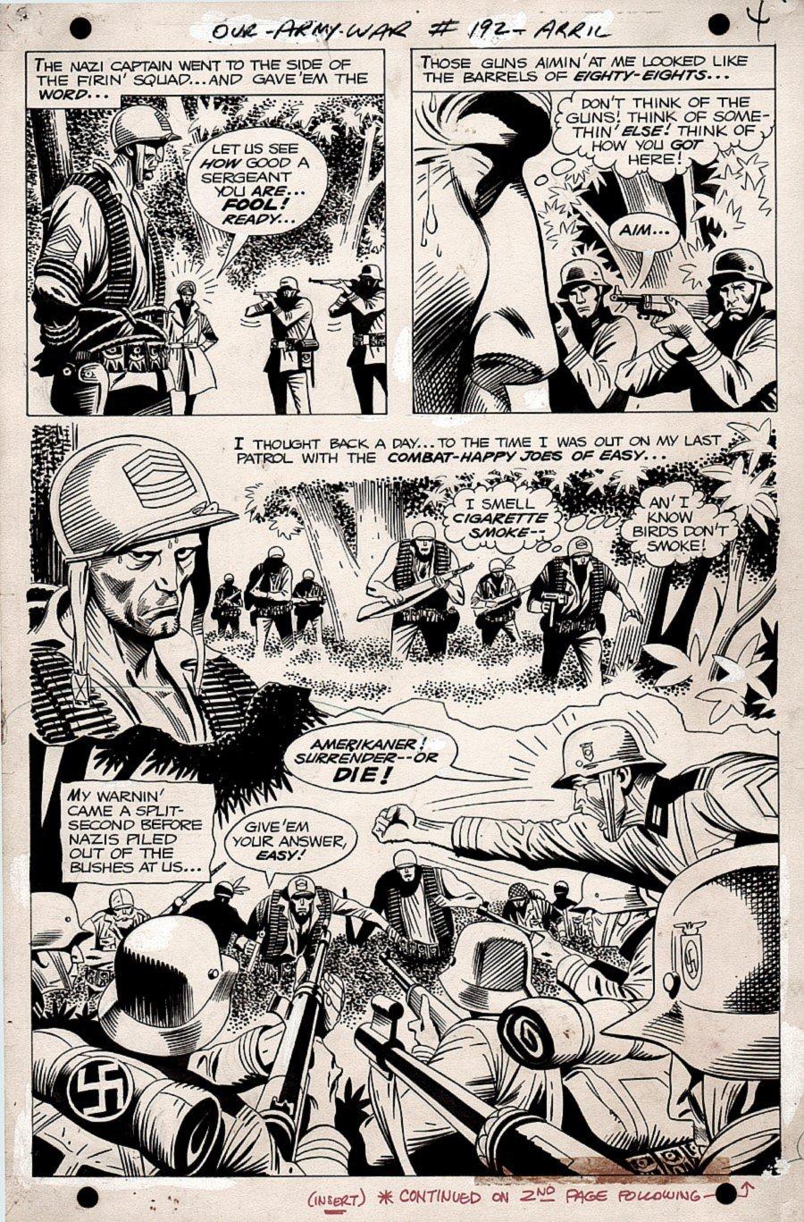 Our Army at War #192 p 4 SEMI-SPLASH (SGT ROCK VS NAZIS!) 1967)