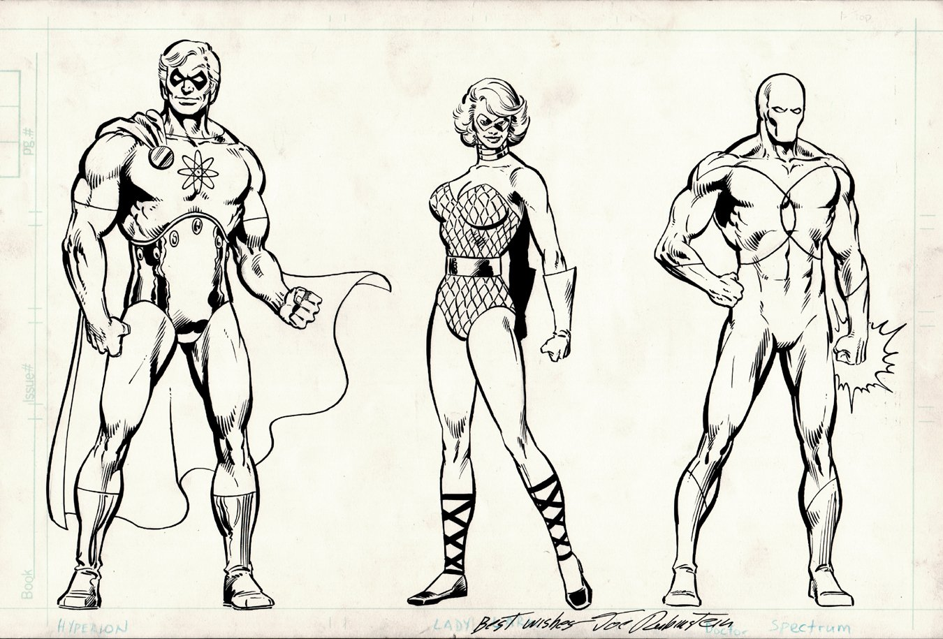 The Official Handbook of the Marvel Universe #10 'SQUADRON SUPREME PINUP' (Published 2 years BEFORE Their Mini-Series!) 1983