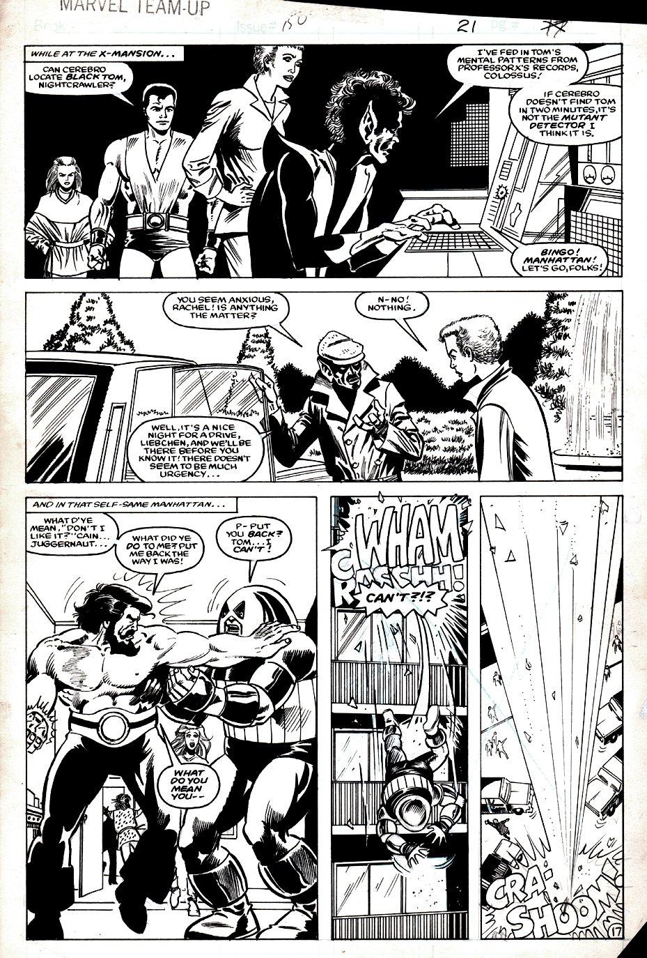 Marvel Team-Up #150 p 17 (SOLD LIVE ON 'DUELING DEALERS OF COMIC ART' EPISODE #34 PODCAST ON 9-1-2021