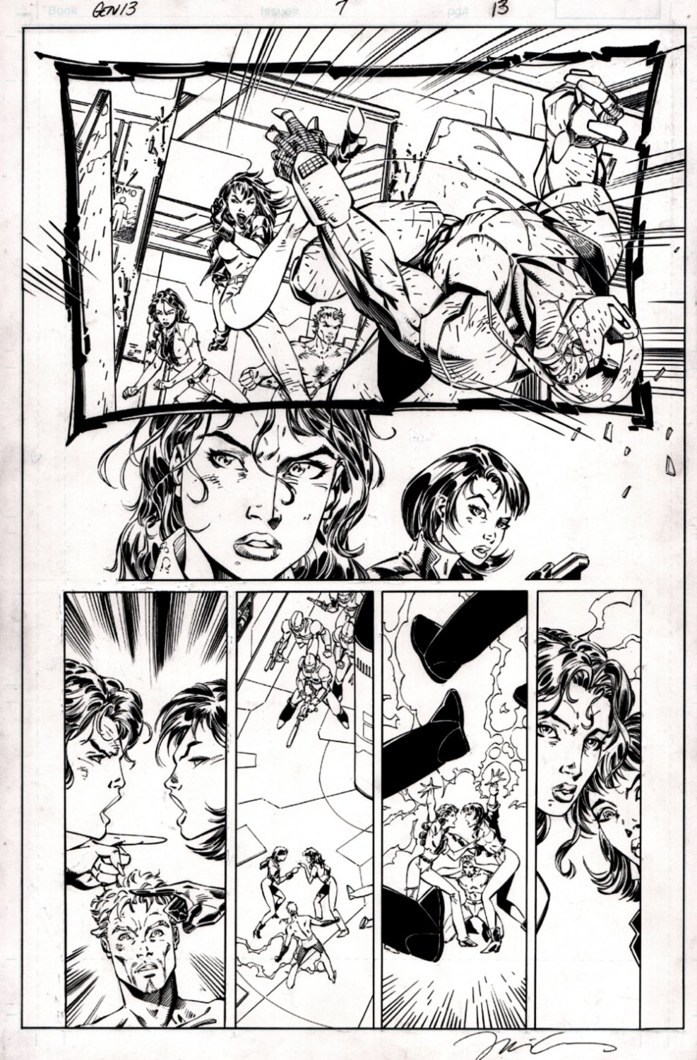 Gen 13 #7 p 13 (BATTLE PAGE!) 1995