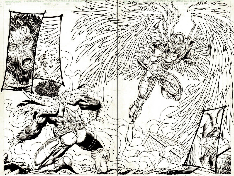 Re:Gex #0 p 14-15 Double Spread Origin & FIRST ISSUE Splash (Scarab Battles Angelique!)