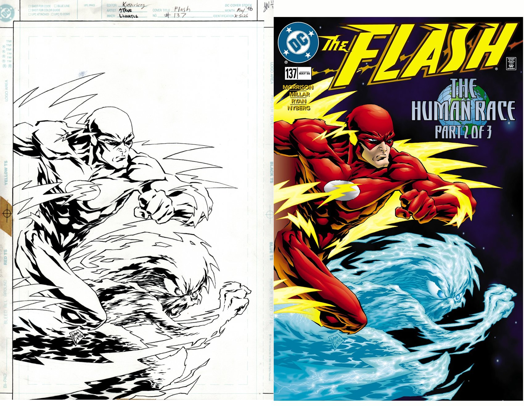 The Flash #137 Cover (SOLD LIVE ON 'DUELING DEALERS OF COMIC ART' EPISODE #30 PODCAST ON 8-9-2021 (RE-WATCH THIS FUNNY ART SELLING SHOW HERE)