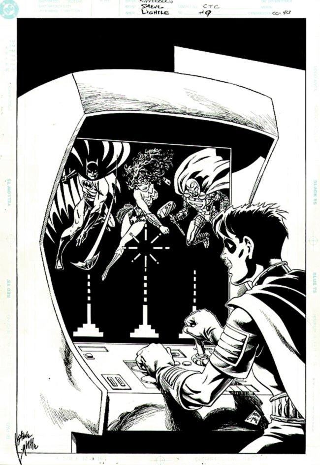 Celebrate the Century #9 Cover (ROBIN, BATMAN, WONDER WOMAN, STEEL!) 2000