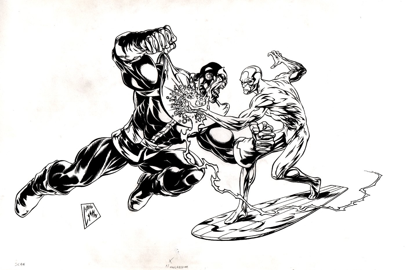 Thanos vs Silver Surfer Pinup (Possibly Created For Statue?)