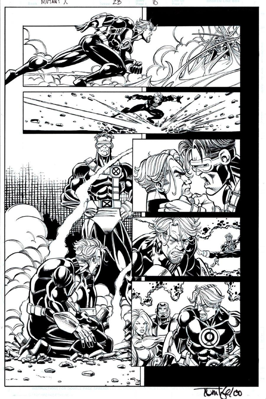 Mutant X #23 p 10 (MAGNETO, HAVOK, CYCLOPS THROUGHOUT!) 20002000)