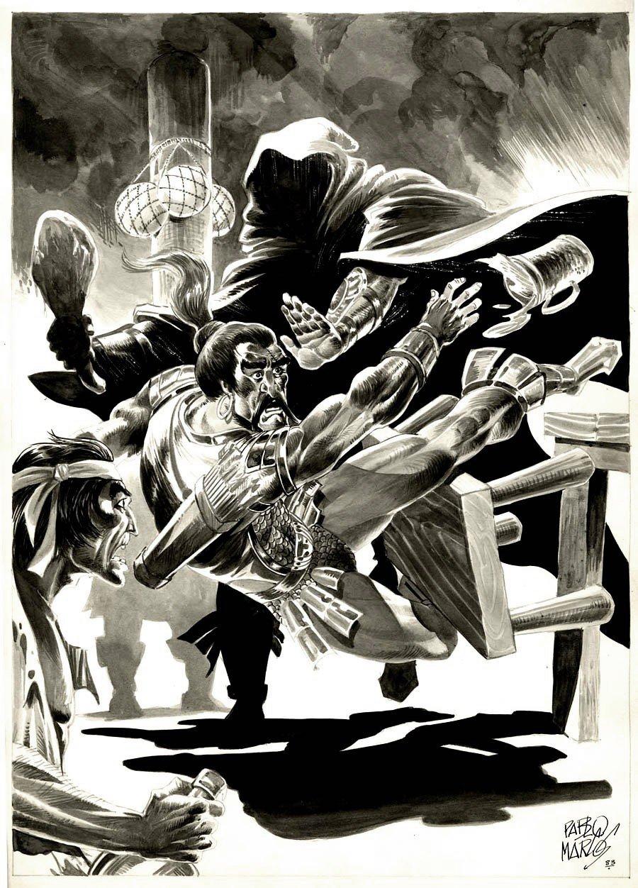 Savage Sword of Conan #88 p 61 SPLASH (DEATH BATTLES!) 1983