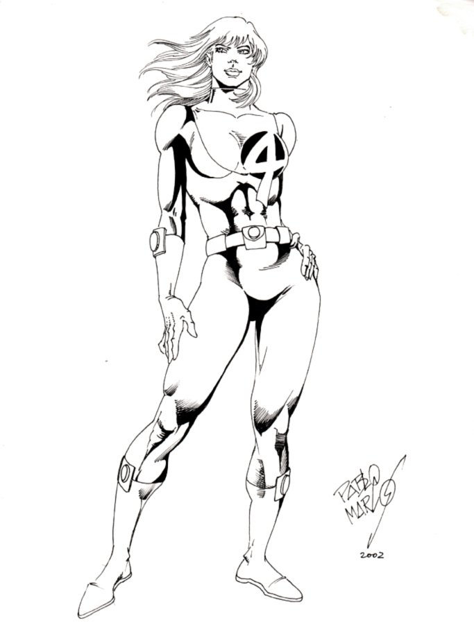 Invisible Woman Pinup (2002)