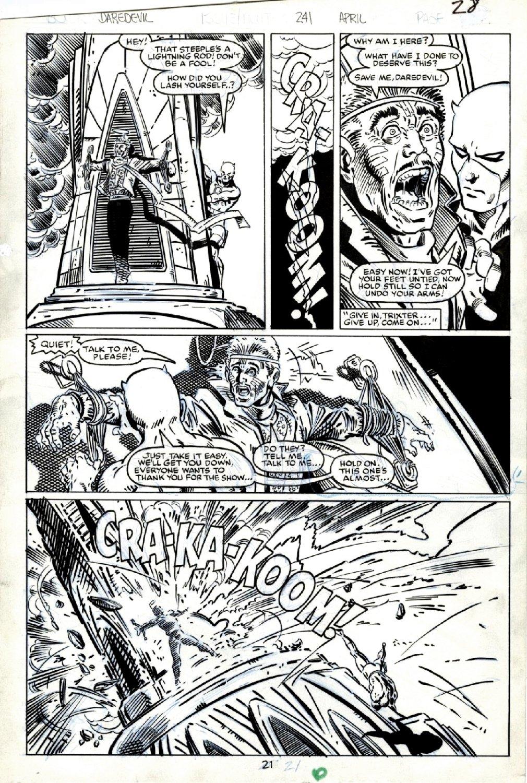 Daredevil #241 p 21 (GREAT McFARLANE DRAWN DAREDEVIL BATTLE!) 1987