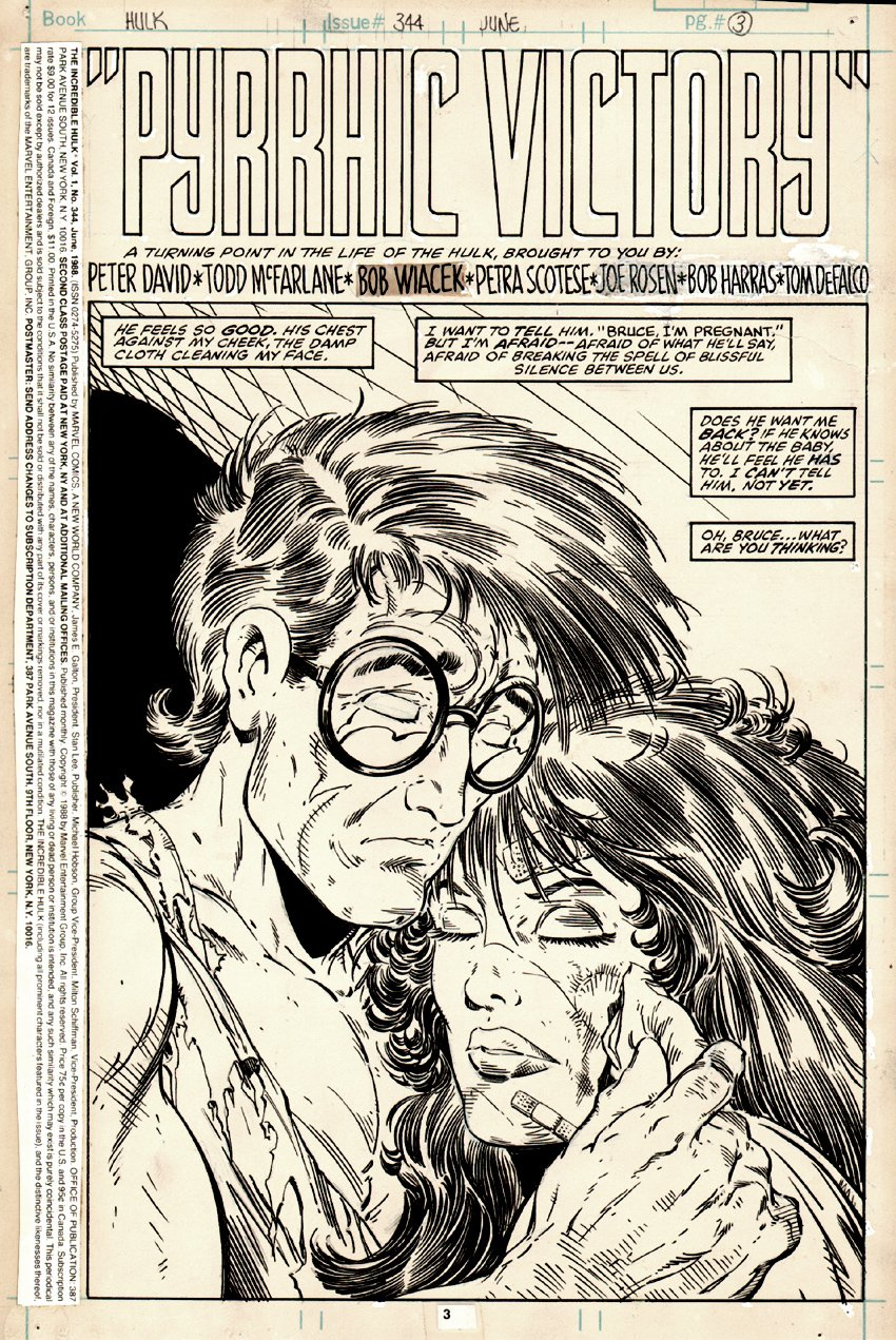 Incredible Hulk #344 p 3 SPLASH (1988)