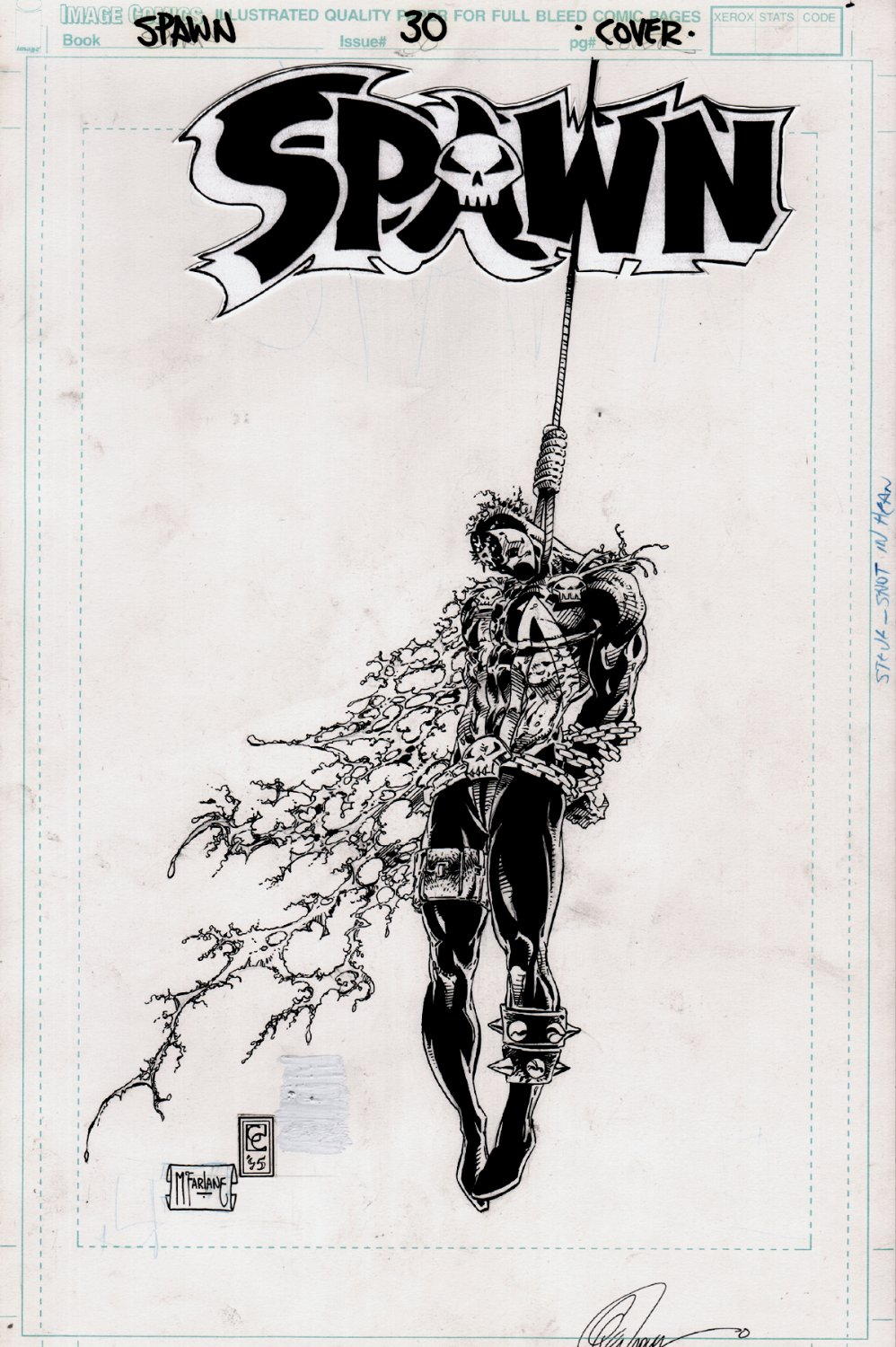 Spawn #30 Cover (TODD McFARLANE PENCILS & INKS, WITH CAPULLO!) 1995