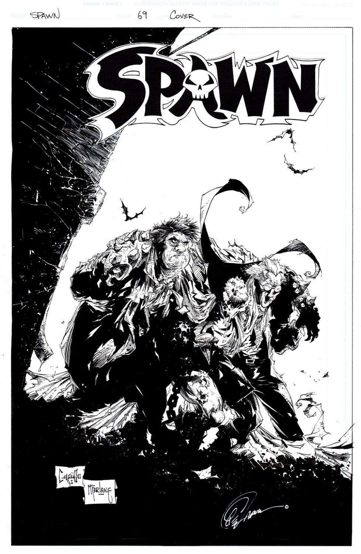 Spawn #69 Cover (TODD McFARLANE INKS, SAM BURKE &TWITCH WILLIAMS SAVE SPAWN!) 1997