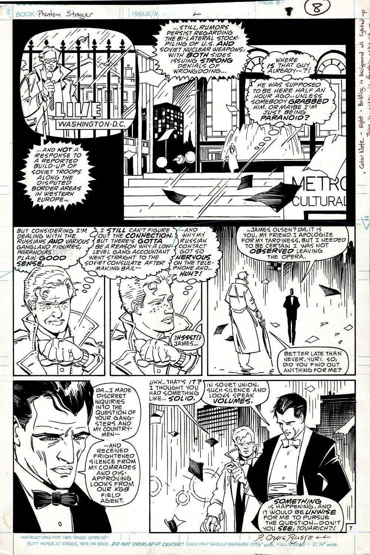 Phantom Stranger #2 p 7 (CLASSIC PRE HELLBOY MIGNOLA DC ART!) 1987