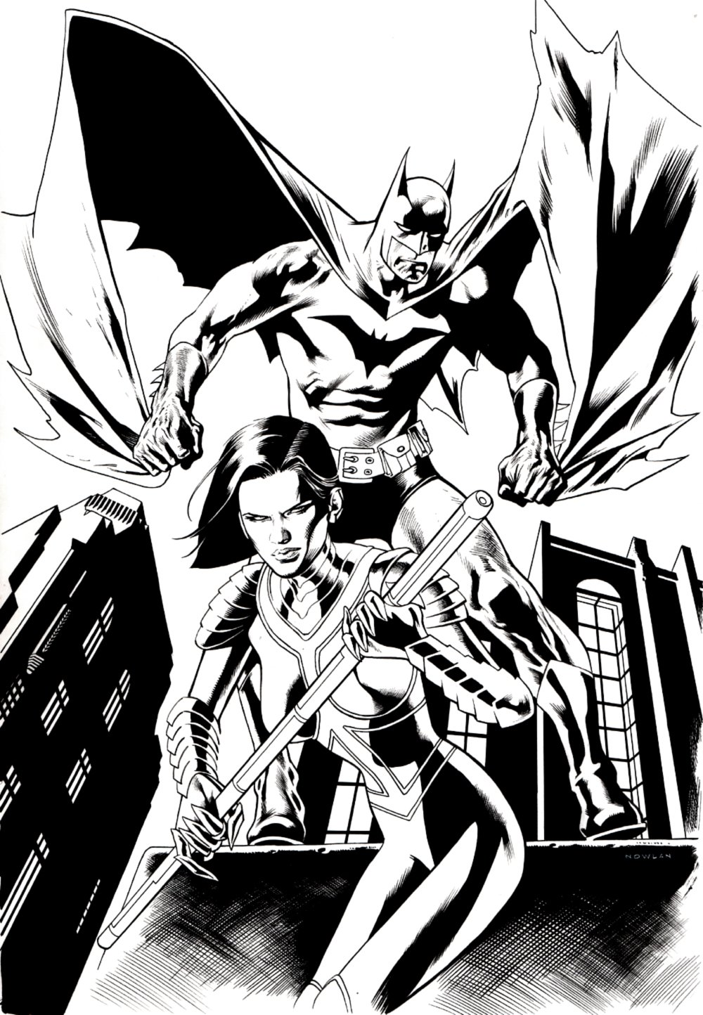 Manhunter #28 Cover (Batman & Manhunter!) 2006