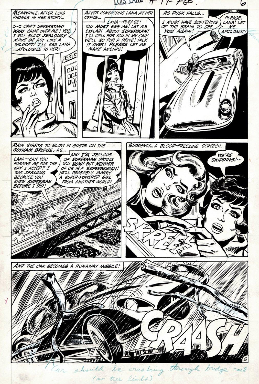 Lois Lane #99 p 6 (LANA LANG GETS KILLED IN CAR CRASH?) 1969