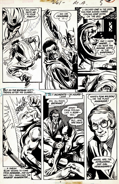 Batman #261 p 4 (BATMAN BATTLE PAGE!) 1974