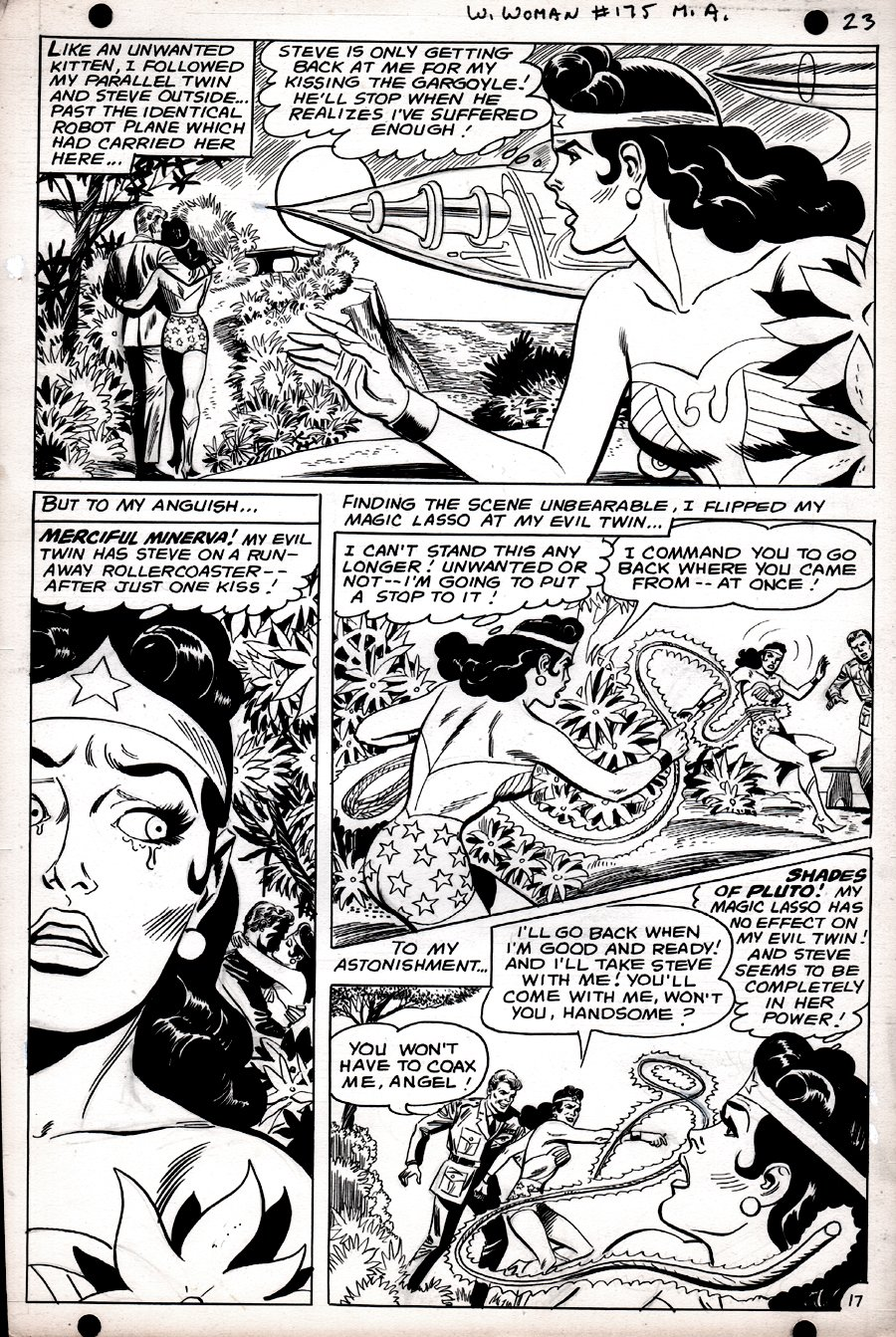 Wonder Woman #175 p 17 (SILVER AGE, WONDER WOMAN BATTLES WONDER WOMAN!) 1967