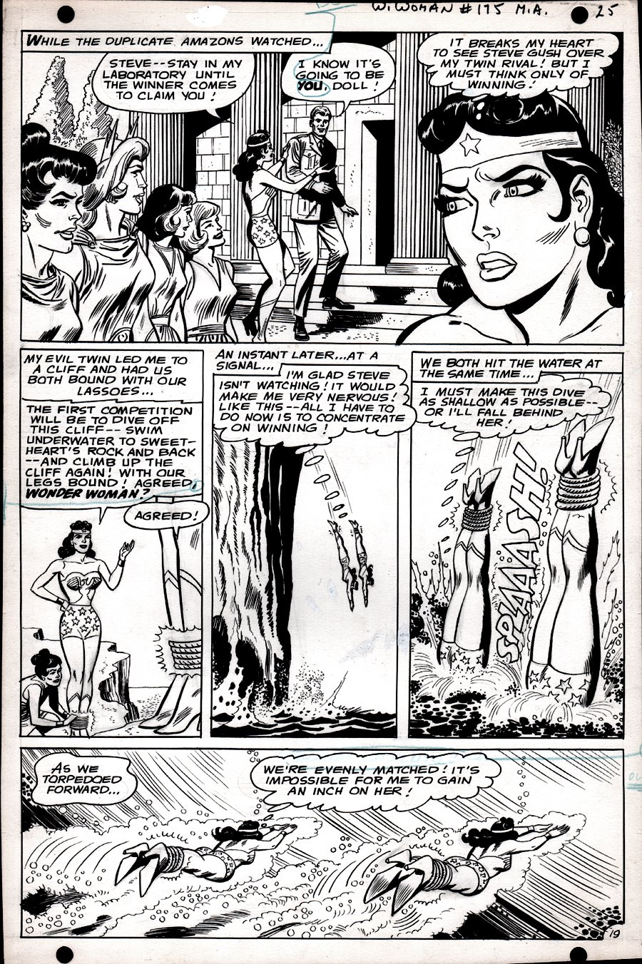 Wonder Woman #175 p 19  (SILVER AGE, WONDER WOMAN BATTLES WONDER WOMAN!) 1967