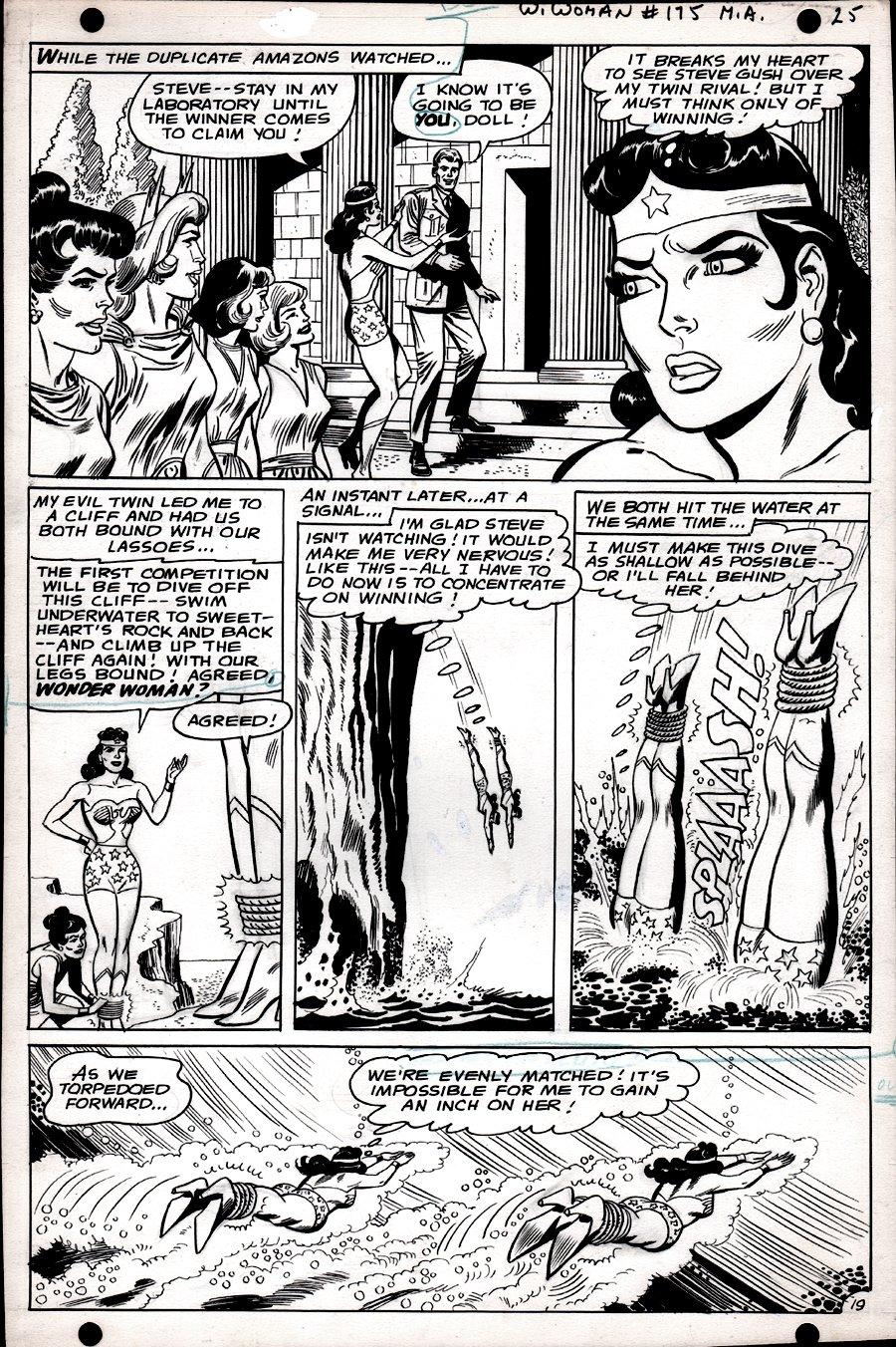 Wonder Woman #175 p 19  (SILVER AGE, WONDER WOMAN BATTLES WONDER WOMAN!) 1967