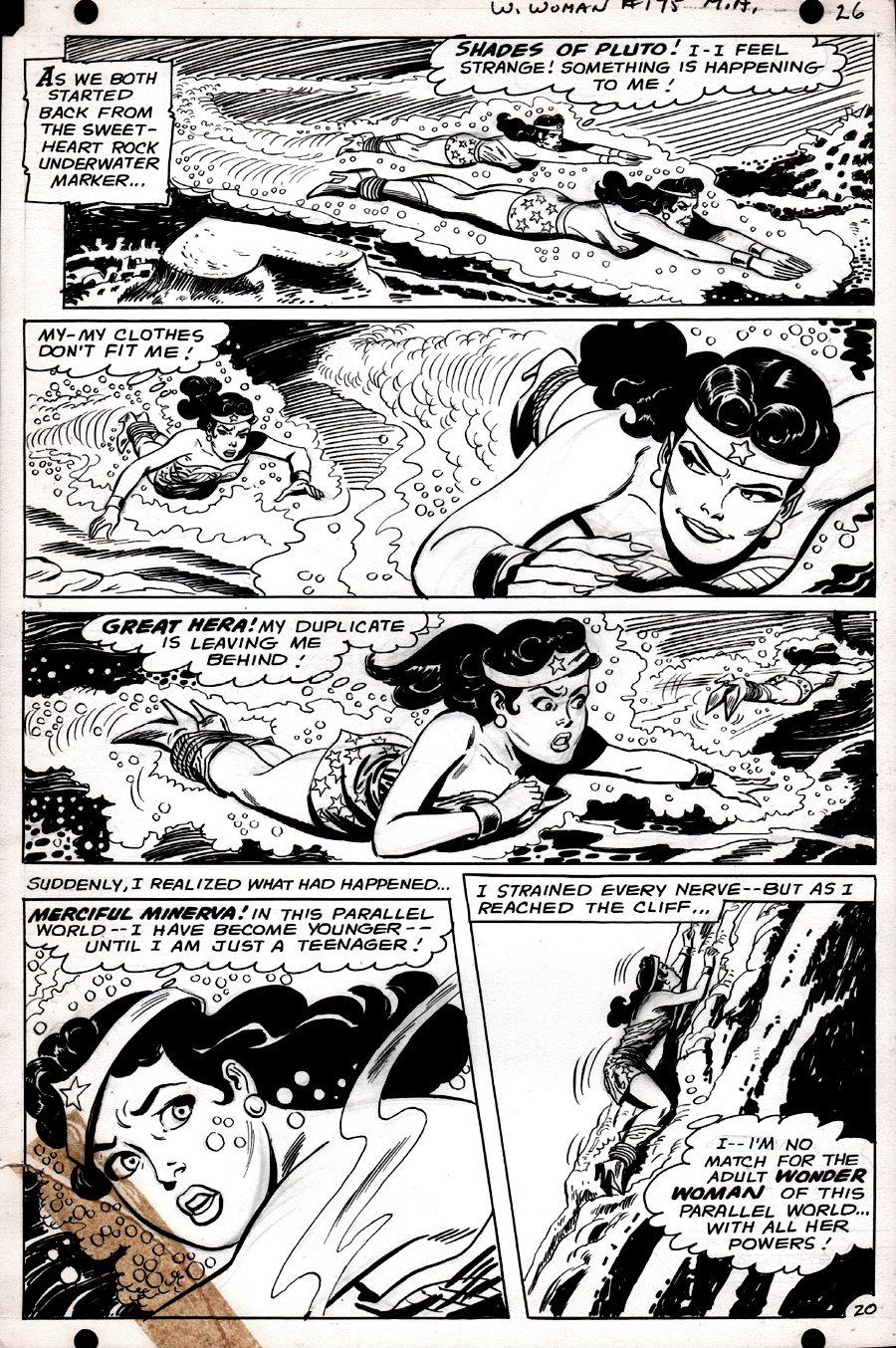Wonder Woman #175 p 20 (SILVER AGE, WONDER WOMAN BATTLES WONDER WOMAN!) 1967