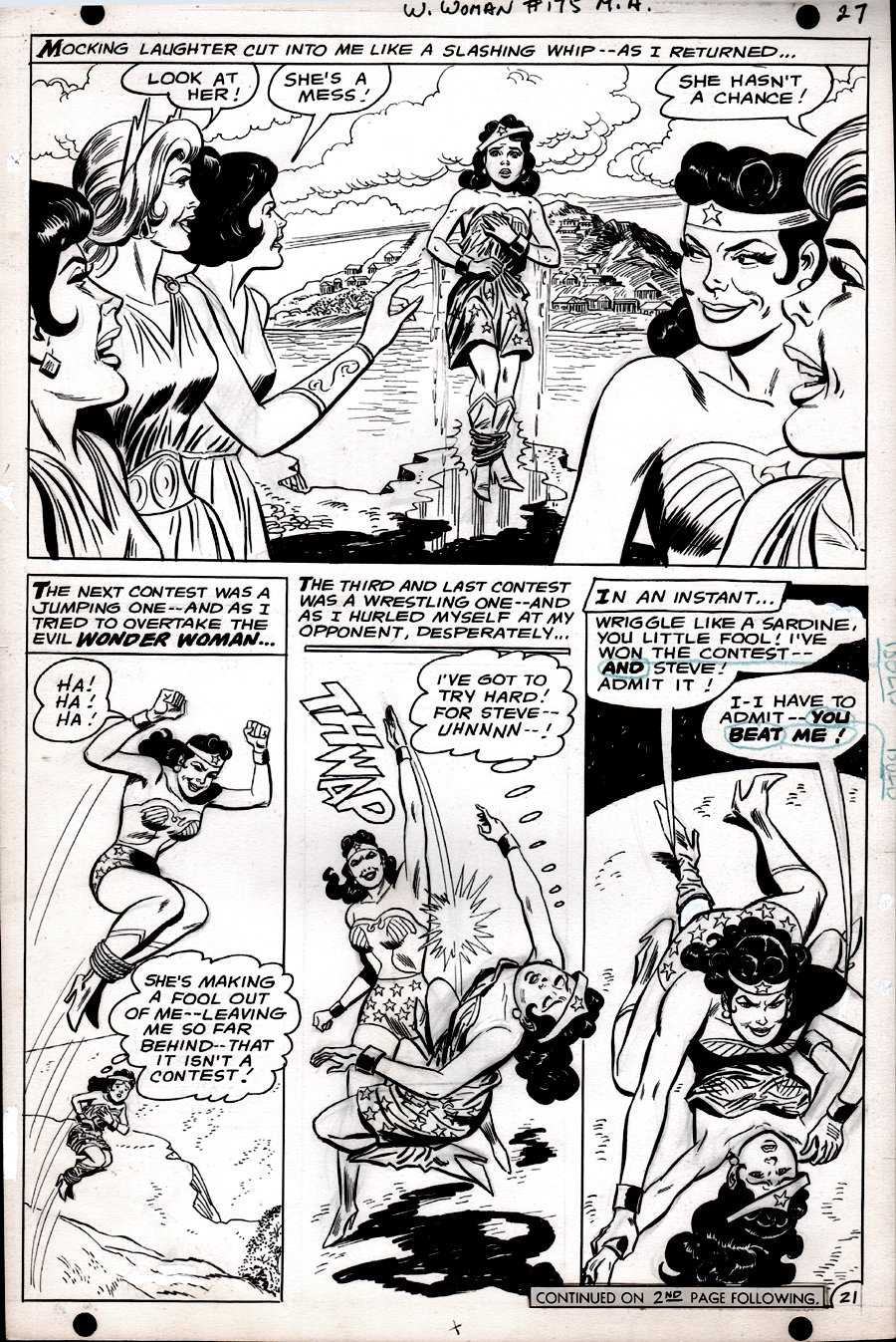 Wonder Woman #175 p 21 (SILVER AGE, WONDER WOMAN BATTLES WONDER WOMAN!) 1967
