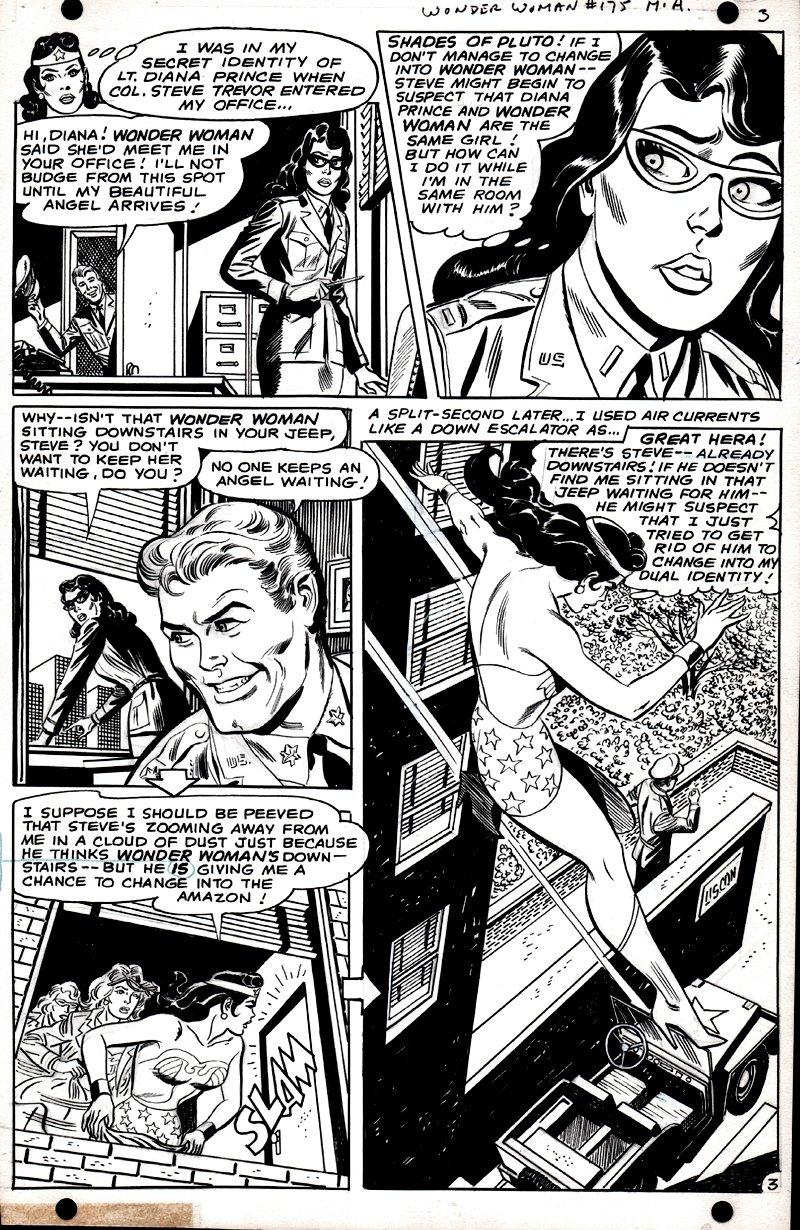 Wonder Woman #175 p 3 (SILVER AGE WONDER WOMAN ART!) 1967