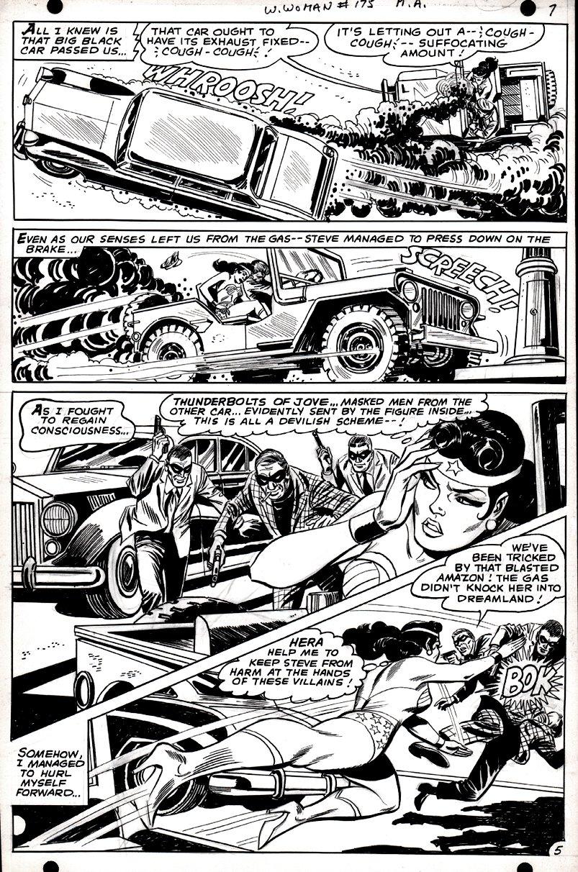 Wonder Woman #175 p 5 (SILVER AGE WONDER WOMAN IN EVERY PANEL, BATTLING!) 1967