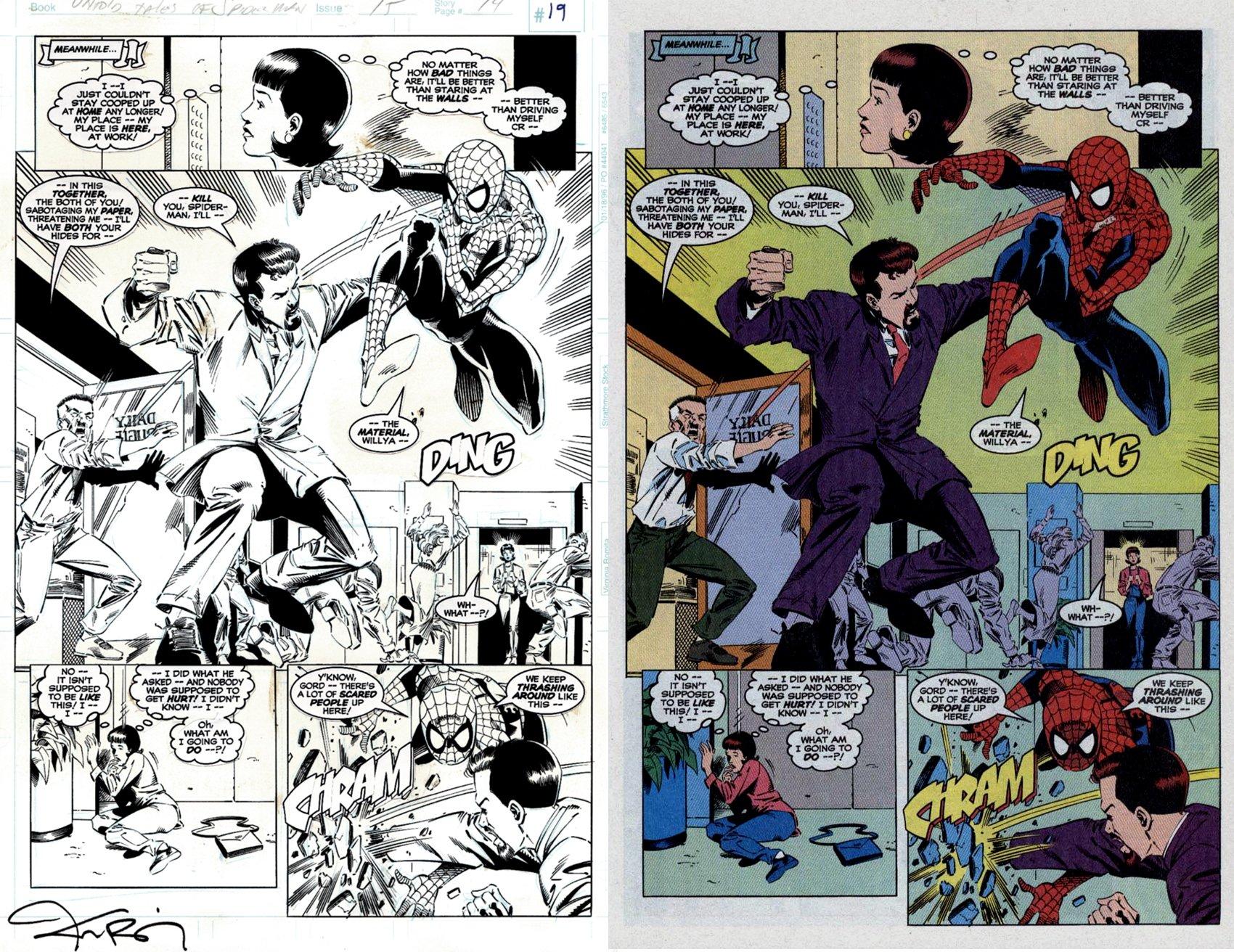 Untold Tales of Spider-Man #15 p 19 Semi-Splash (Spider-Man Battles Gordon Savinski) 1996