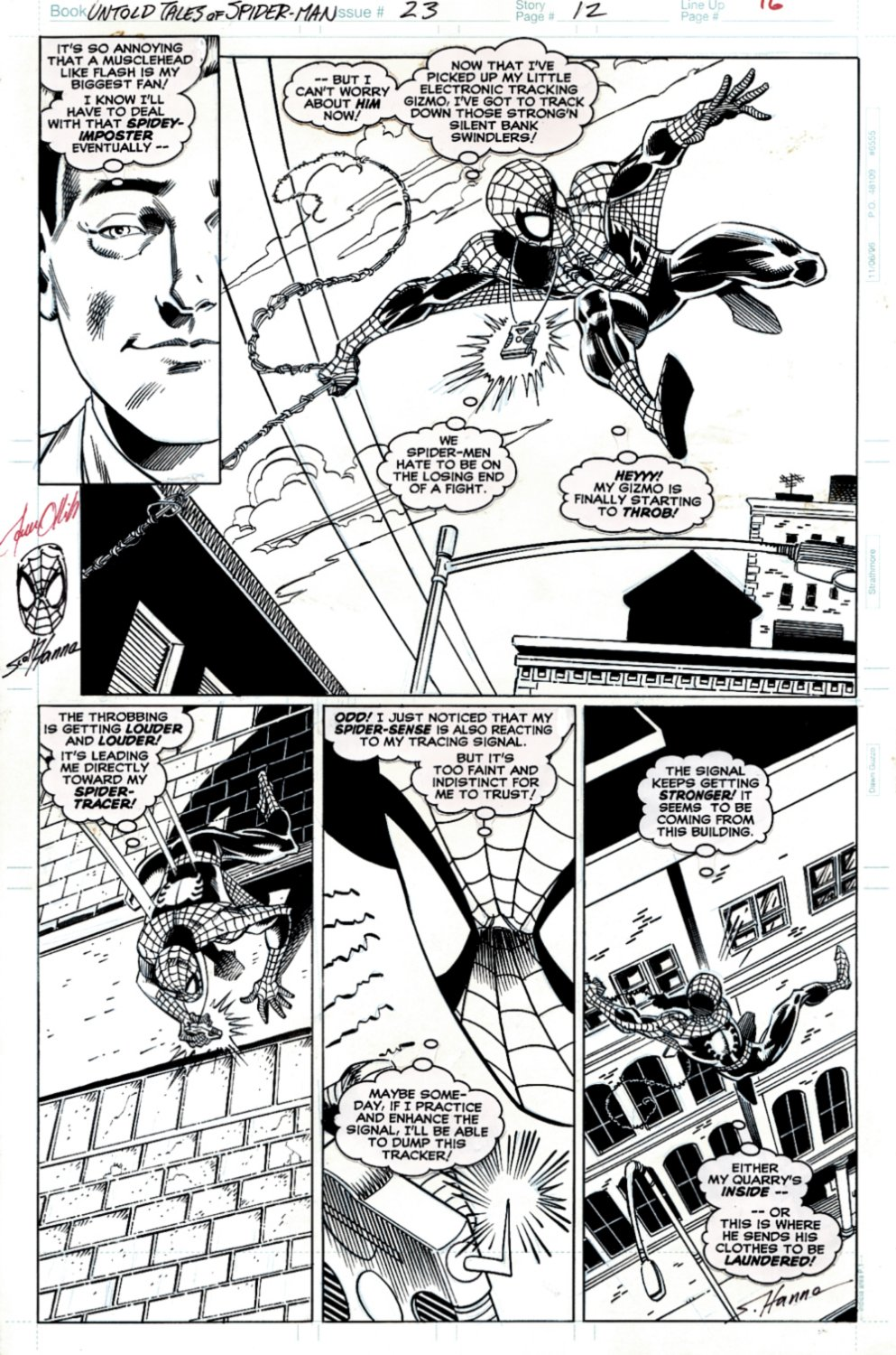 Untold Tales of Spider-Man #23 p 12 (SOLD LIVE ON 'DUELING DEALERS OF COMIC ART' EPISODE #35 PODCAST ON 9-4-2021
