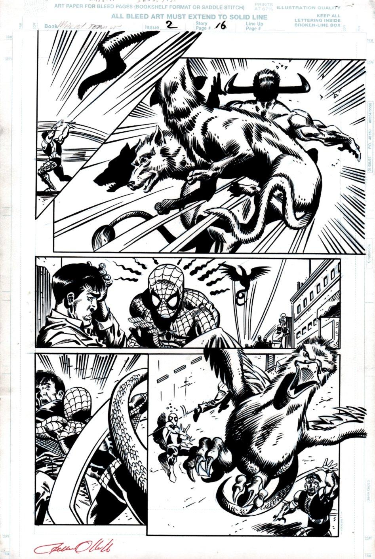 Marvel Team-Up #2 p 16  (Spidey Battles Ancient Demons!) 1997