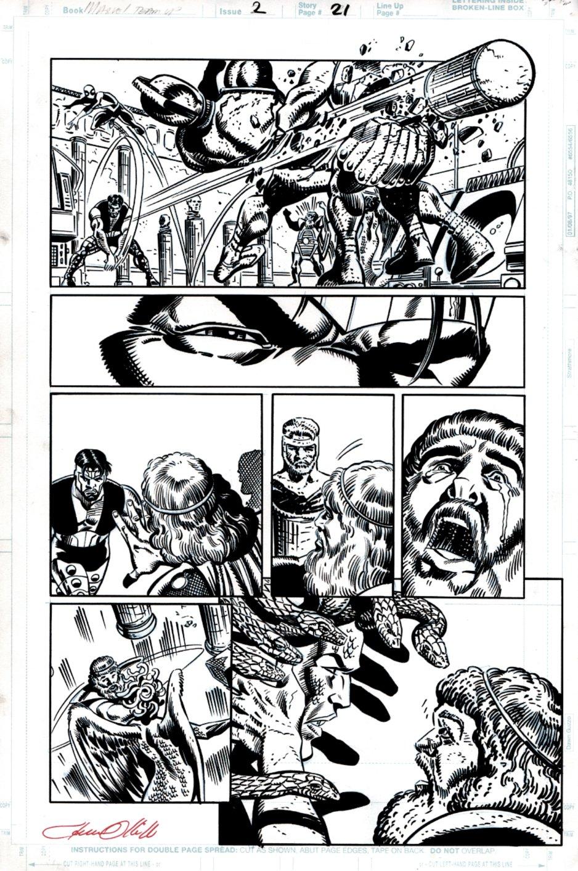 Marvel Team-Up #2 p 21  (Spidey, Hercules, SNAKE-MEDUSA!) 1997