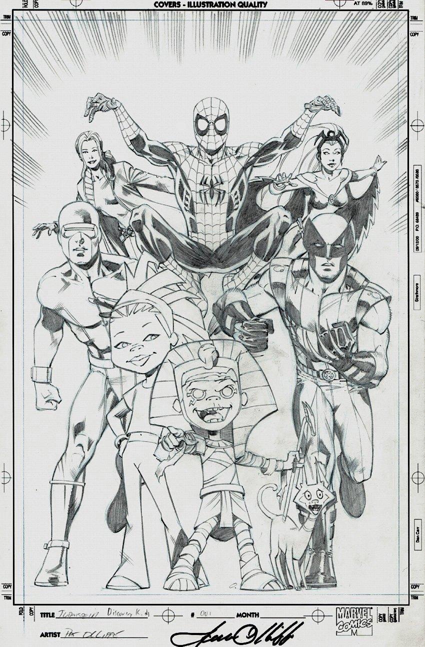 Tutenstein: Spider-Man / X-Men #1 Cover (2004)